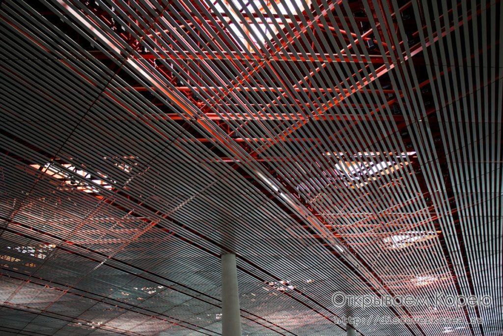 потолок Пекинского аэропорта