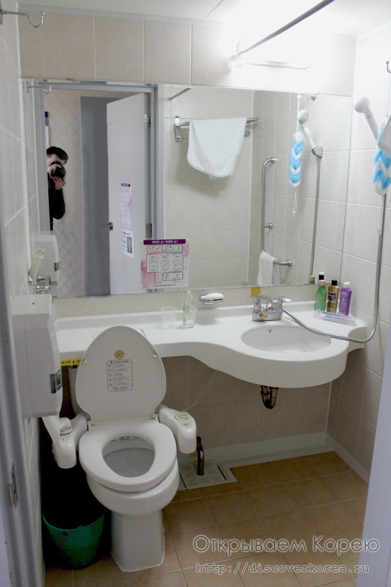 Туалет обычной палата в больнице Чхоннам