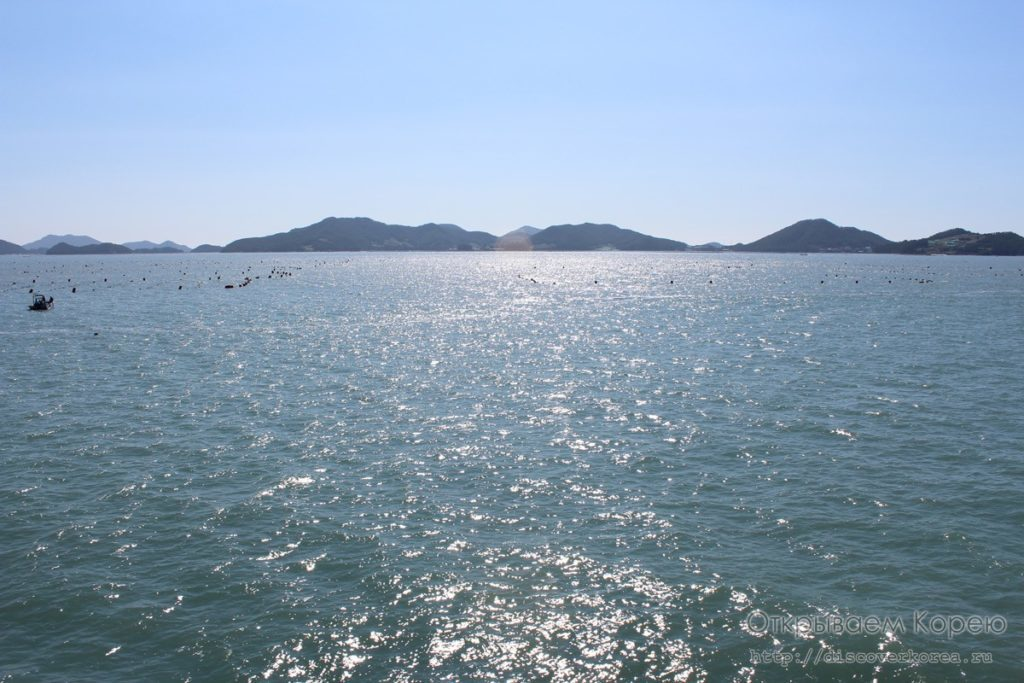 Море с парома до Чеджудо