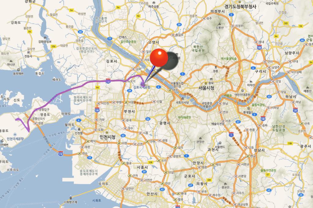 Автобусный маршрут Инчхон-Сеул 6007
