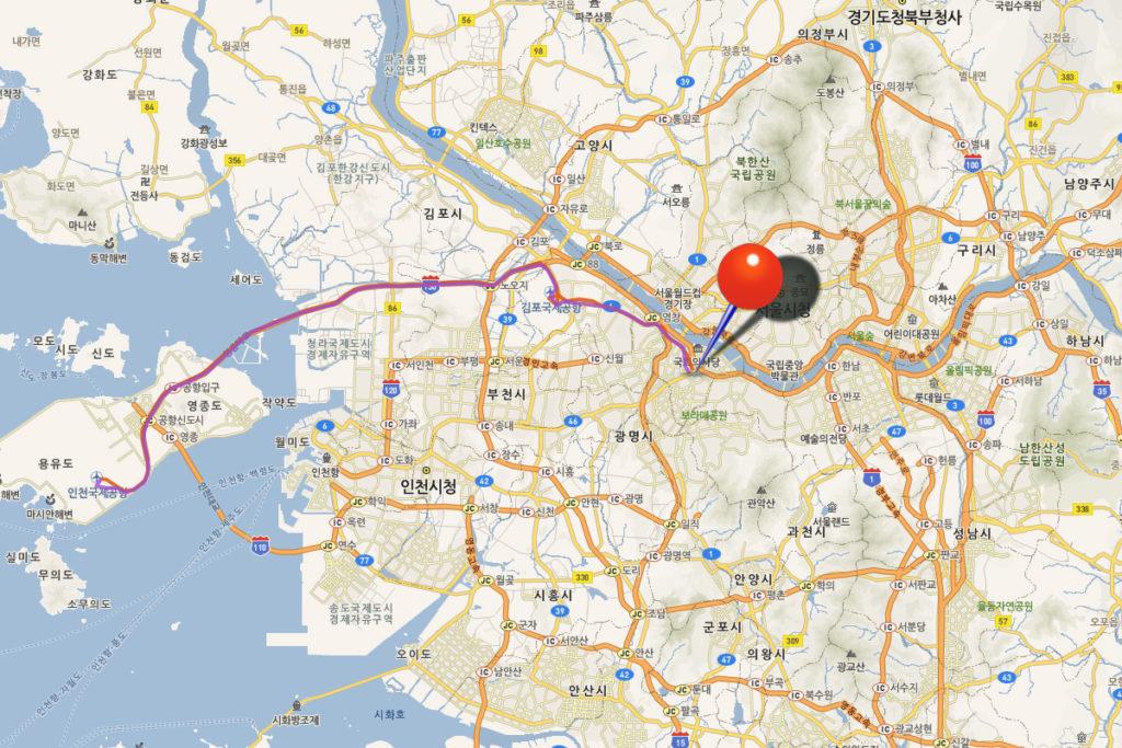 Автобус аэропорт Инчхон - Сеул 6008