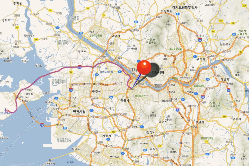 Автобус Инчхон - Сеул 6018