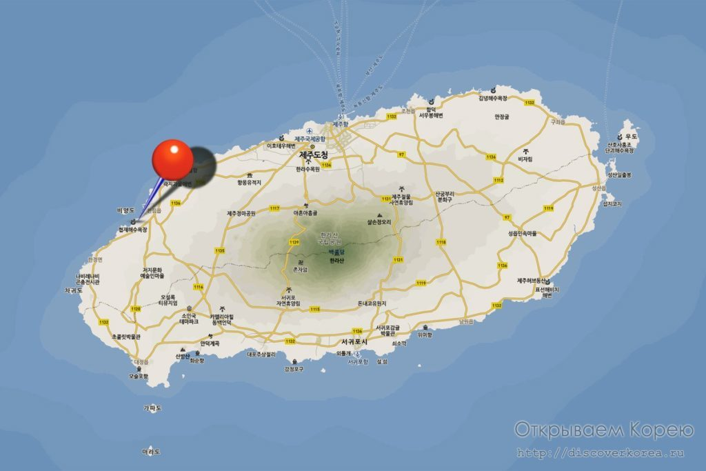 Карта Хёпче пляжа
