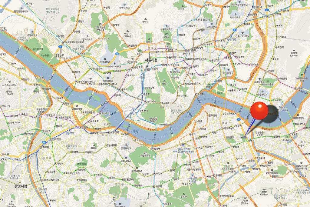 COEX (КОЭКС) на карте Сеула