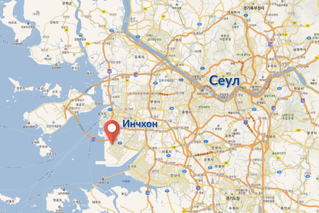G-Tower на карте Кореи месторасположение