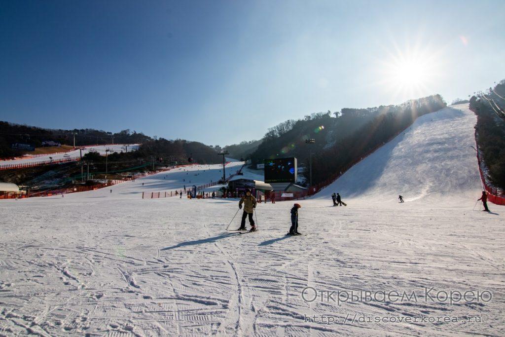 сноуборд в Корее - склоны