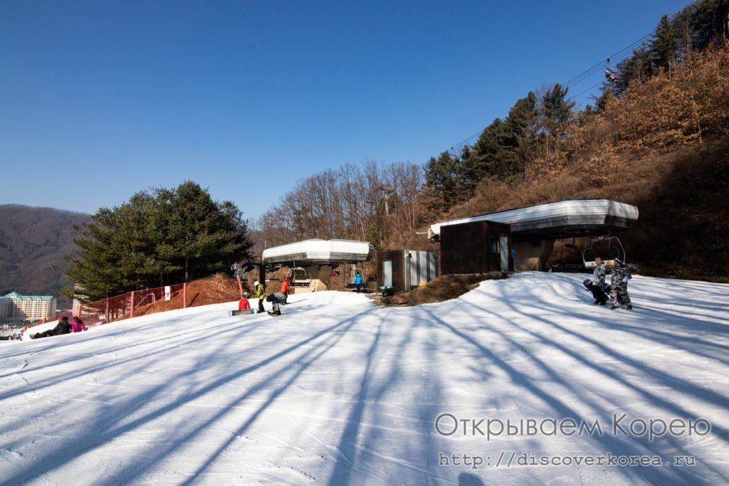 горные лыжи в Корее