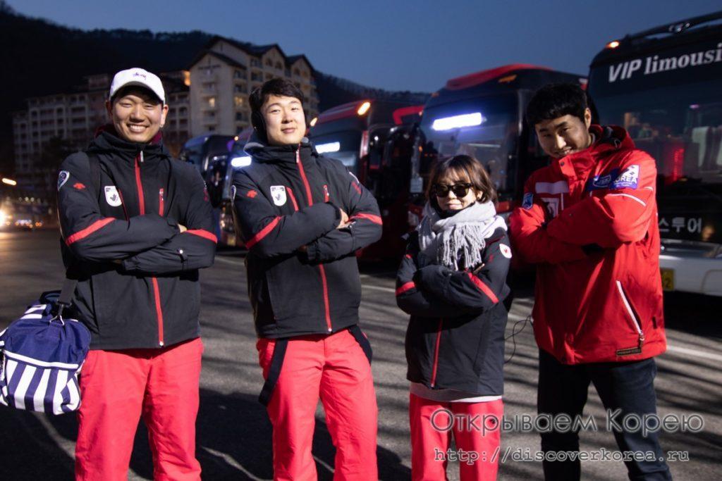 горные лыжи в Корее - инструкторы