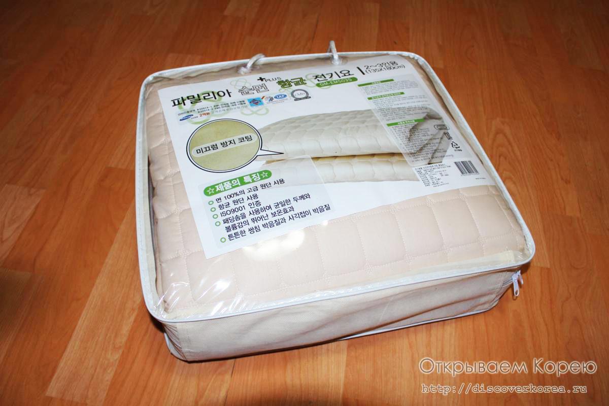 Теплый матрац — сделано в Корее.
