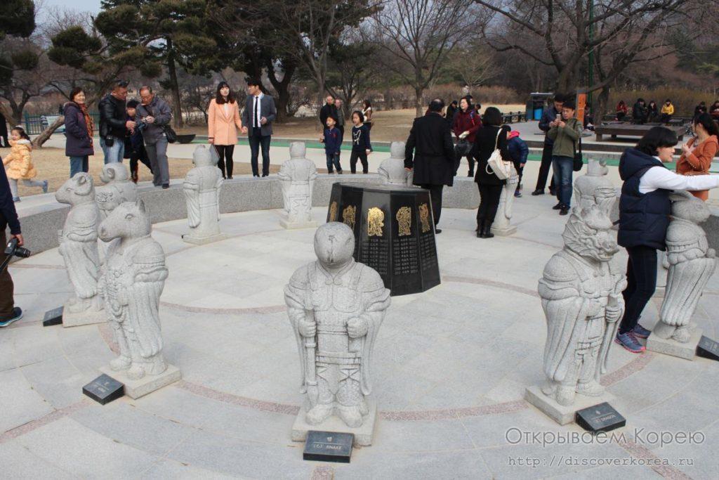 Кёнбоккун-скульптуры знаков животных