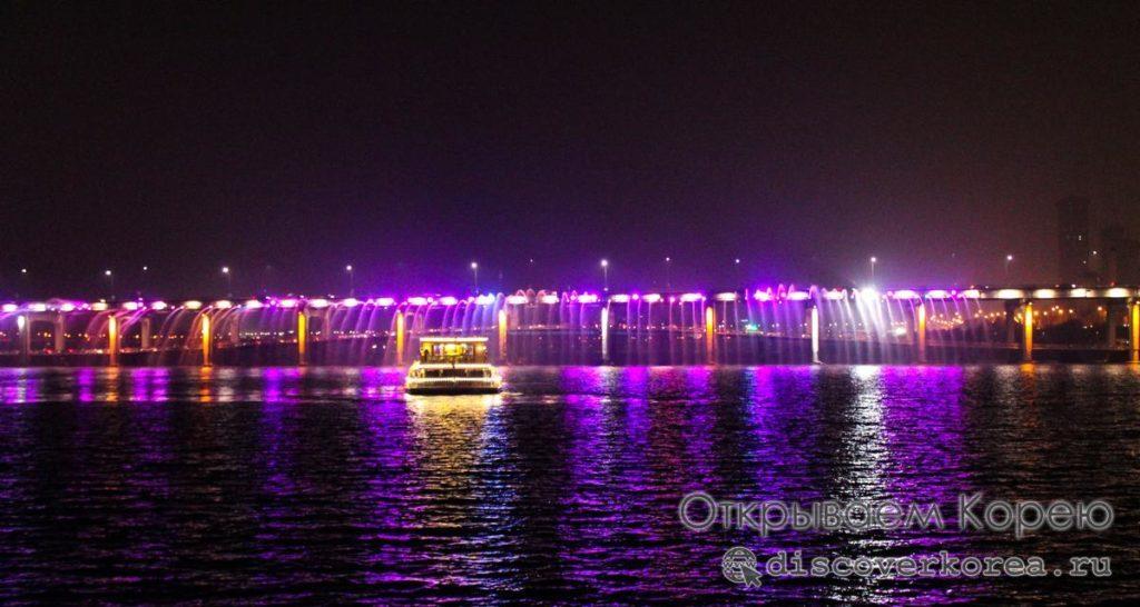 Прогулка на теплоходе по реке Ханган в Сеуле