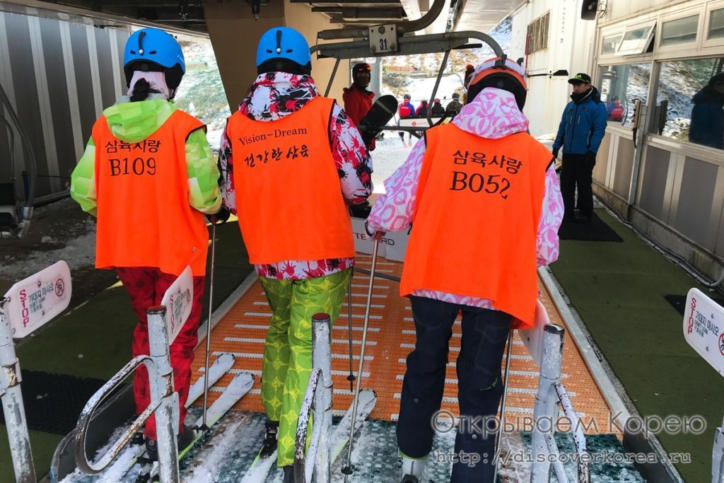 горные лыжи в Корее - траволатор