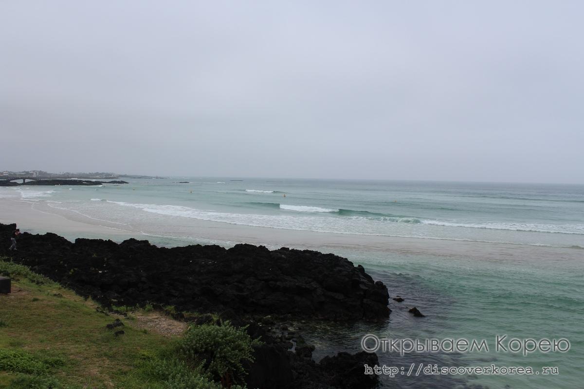 Остров Чеджудо — прибытие в аэропорт аренда авто и пляж Хамдок