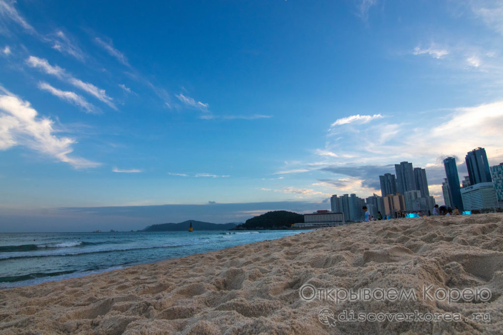 Пляжи Пусана - Хеундэ небо и песок