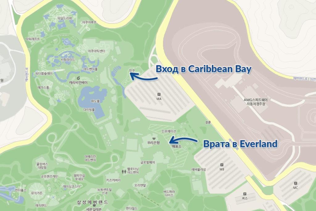 Карибиан Бей - карта эверленда