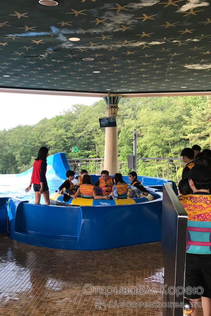 Аквапарк Ocean World - шестиместный слайд
