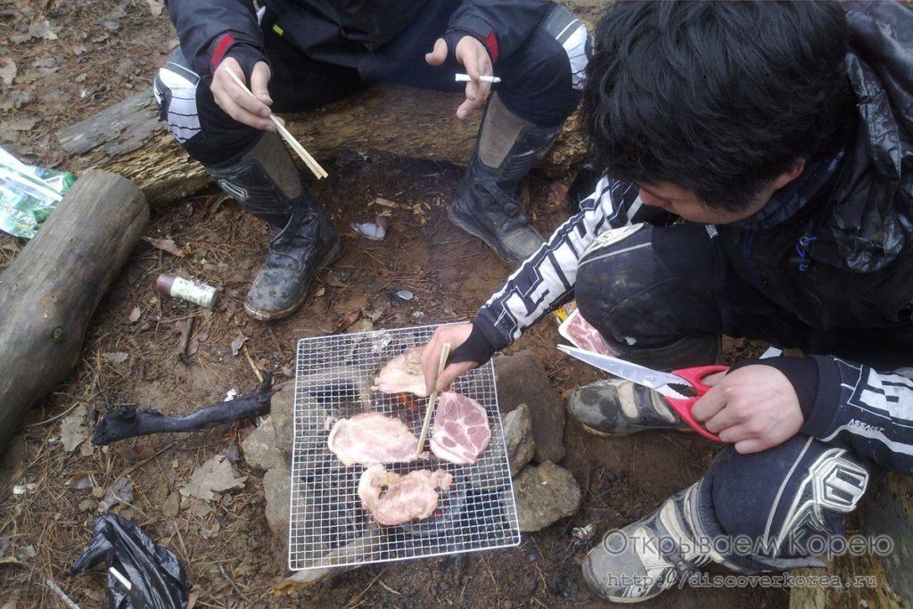 корейская кухня самгепсаль